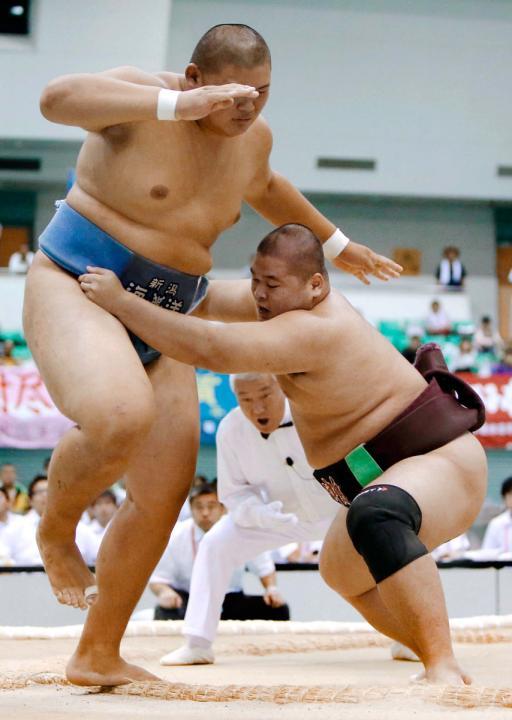 全国高校総体]第8日 相撲 山口...