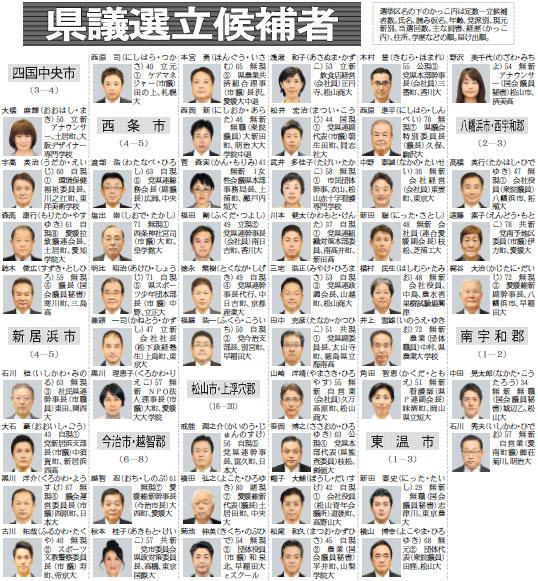福島 県議会 議員 選挙 2019